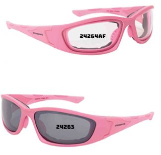 24264 AF Clear AF, soft pink frame, foam lined 24263 Silver mirror, soft pink, foam lined