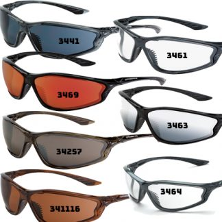 3464 Clear lens, shiny pearl gray frame 3441 Smoke lens, crystal black frame 34257 HD brown flash mirror lens, dark brown 3463 Silver mirror lens, shiny black frame 3469 Red mirror lens, shiny black frame 341116 HD copper lens, crystal brown frame