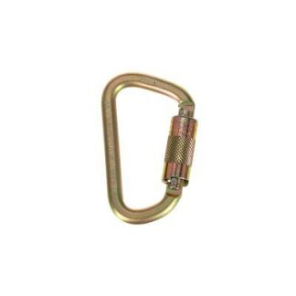 "2000112 - Steel carabiner, 3600 lb. self closing/locking gate (3/4"" opening)"