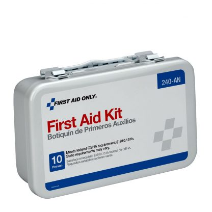 10-unit-first-aid-kit-metal-case - 240-AN FirstAidOnly 2