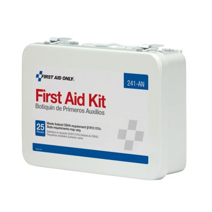 FIRSTAIDONLY - 241-AN - 25 Person 16 Unit First Aid Kit, Metal Case
