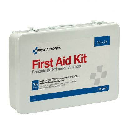 75 Person Unitized Metal First Aid Kit, OSHA Compliant - 243-AN FirstAidOnly 2