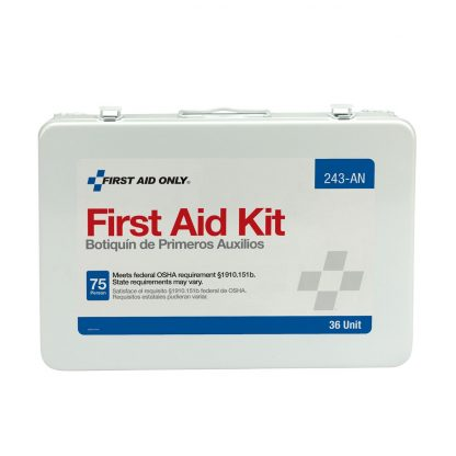 75 Person Unitized Metal First Aid Kit, OSHA Compliant - 243-AN FirstAidOnly 3
