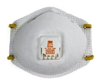 3M™ Particulate Respirator 8511, N95 80 EA/Case Part Number 54343, 3M ID 70070757557, UPC 50051138543438 1
