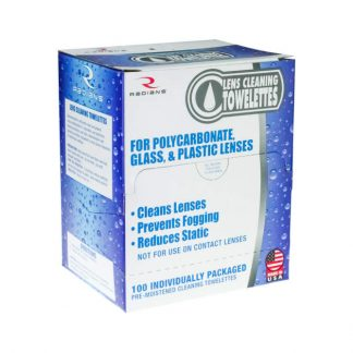 Lens cleaning towelettes wipes