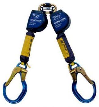 3101624 - 9 foot twin leg nano lok self retracting lifeline