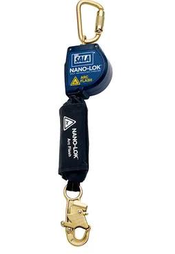 3M™ DBI-SALA® Nano-Lok™ Arc Flash Self Retracting Lifeline with Anchor Hook, Web 3101533, 8 ft. (2.4m)