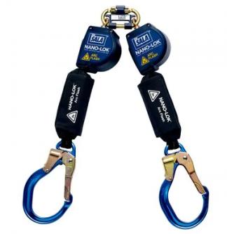 3M DBI-SALA Nano-Lok Arc Flash Twin-Leg Quick Connect Self Retracting Lifeline - Web 3101540, 8 ft. (2.4m)