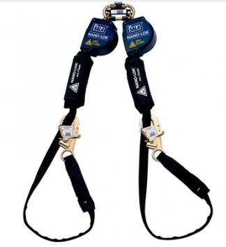 3M DBI-SALA Nano-Lok Arc Flash Tie-Back Twin-Leg Quick Connect Self Retracting Lifeline, Web 3101565, 11 ft. (3.3m)