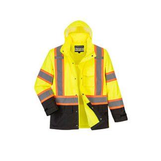 US361 - Hi-Vis Contrast Tape Rain Jacket