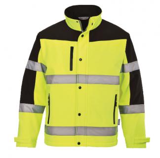US429 - Two Tone Softshell Jacket (3L) Yellow/Black