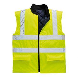 US469 - Hi-Vis Reversible Bodywarmer Yellow